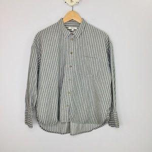 Madewell Westward striped cropped flannel
